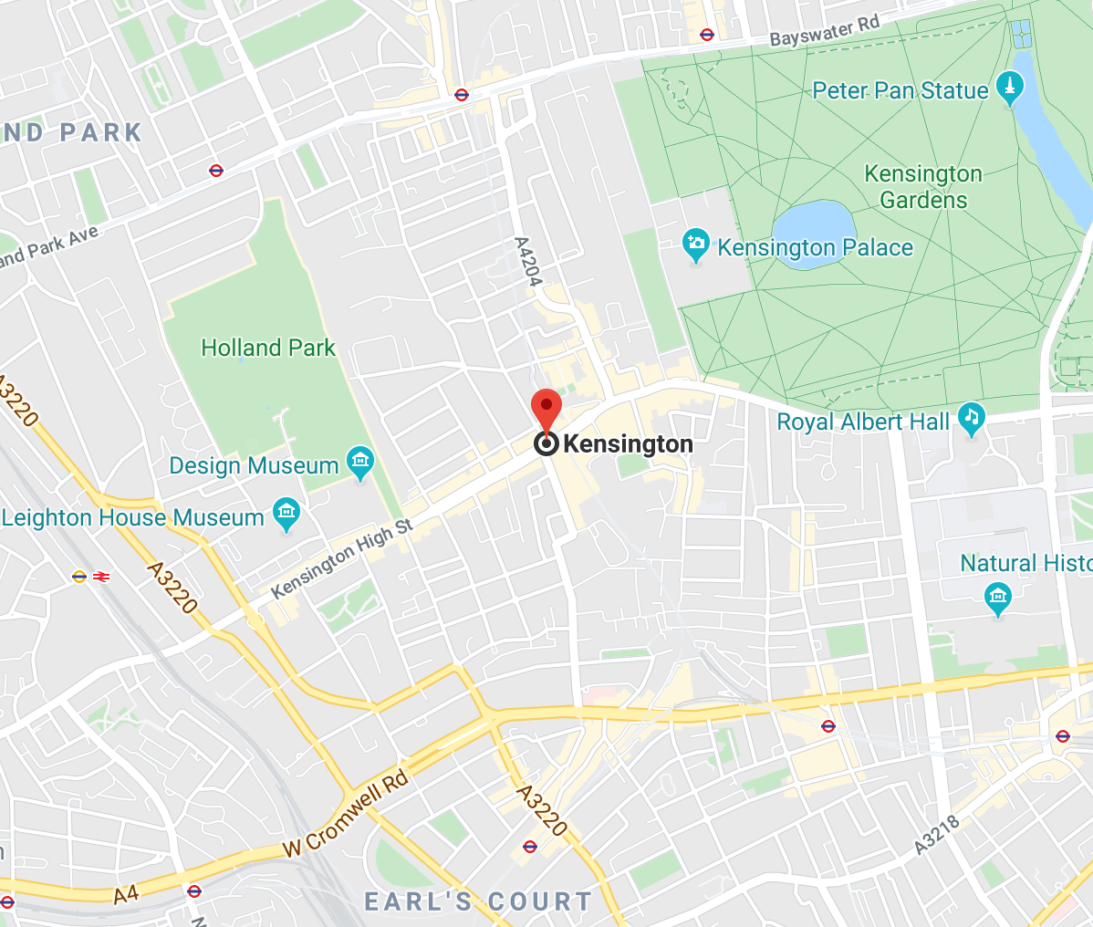 Kensington Are London Map