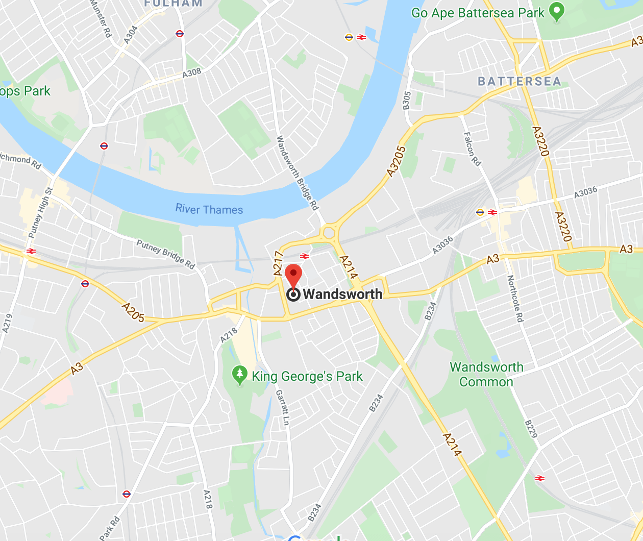 Wandsworth SW18 London Map