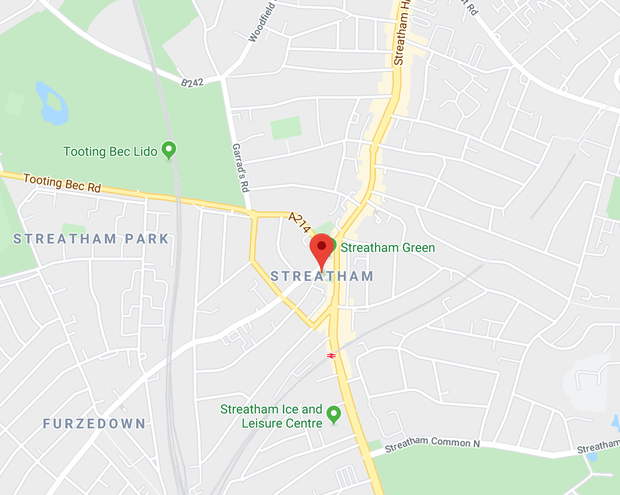 Streatham Area London Map
