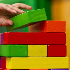 Wooden cubes | Nursery Babysitting Jobs