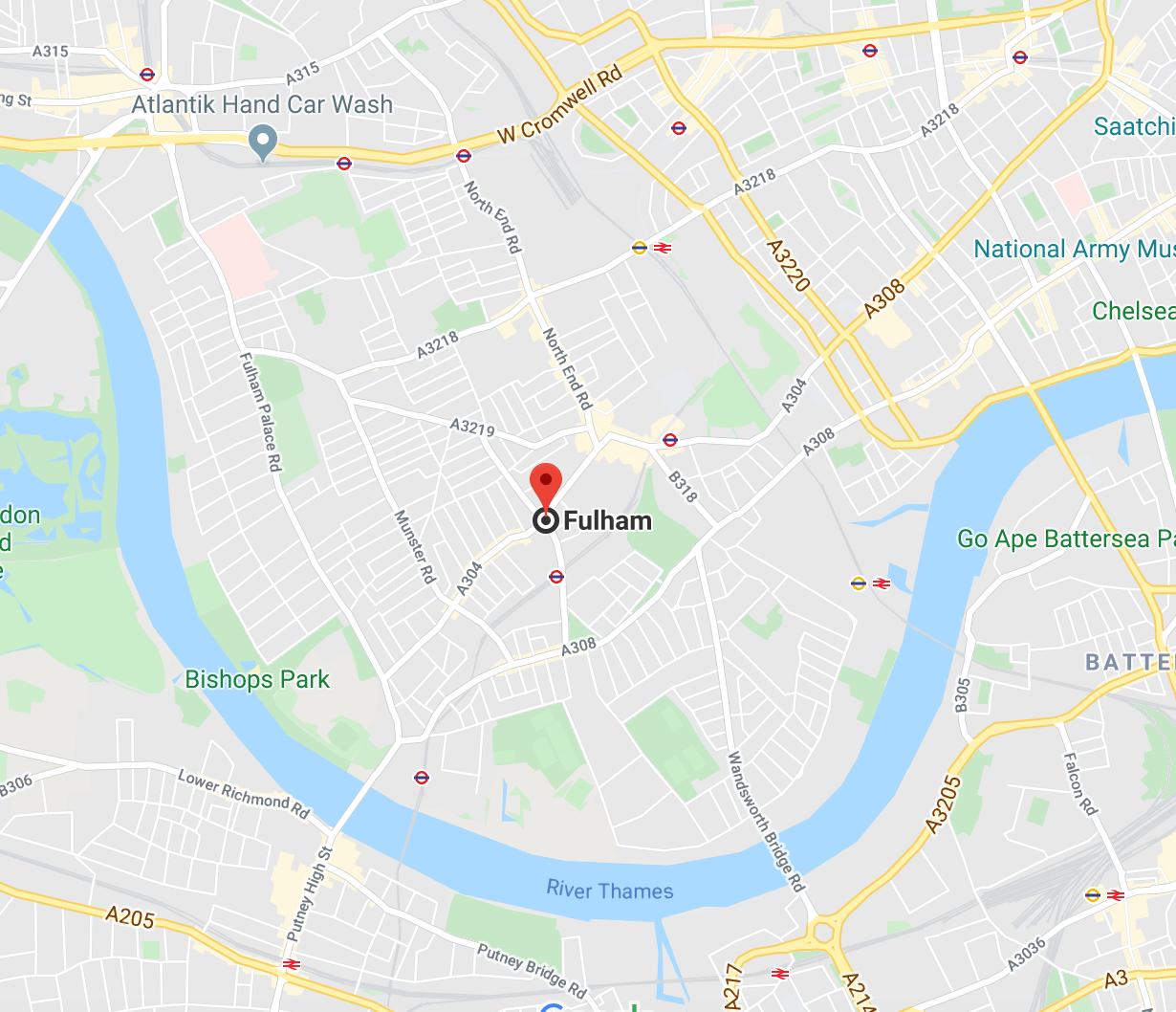 Fulham SW6 London Map