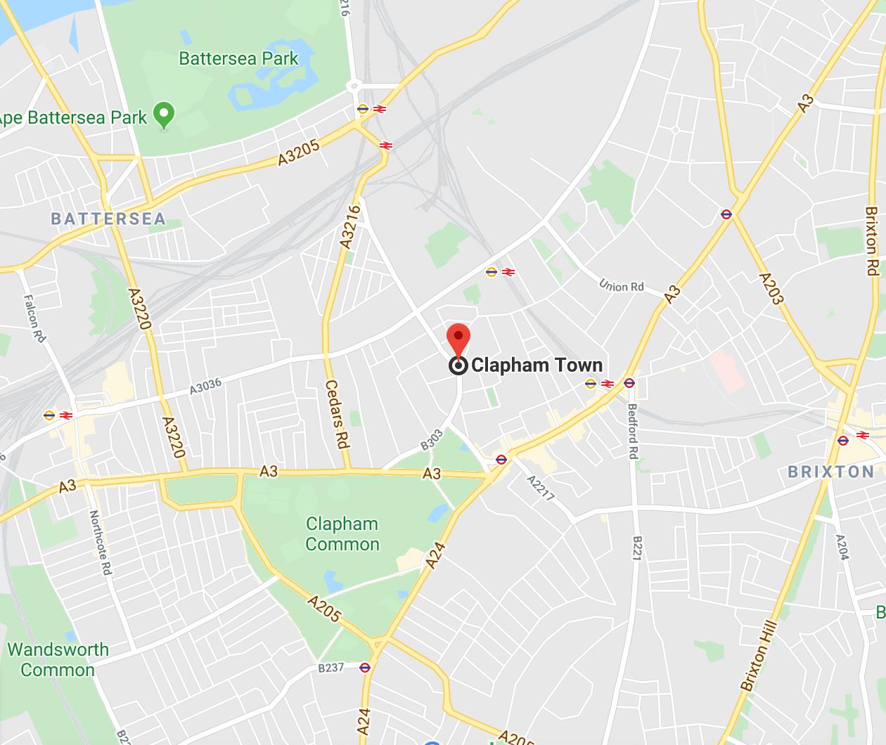 Clapham SW4 London Map